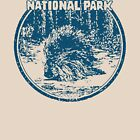 Zion Porcupine National Park Utah Vintage Travel by hilda74
