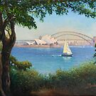 Sydney Harbour from Mrs Macquaries Chair. by Fred Marsh