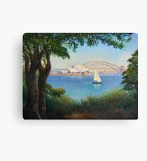 Sydney Harbour from Mrs Macquaries Chair. Canvas Print