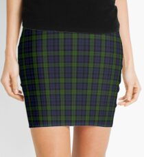 00535 Black Watch (smallest sett) Military Tartan  Mini Skirt