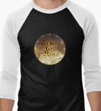 Time to Read - Magical Book Sparkle Clock Baseball ¾ Sleeve T-Shirt
