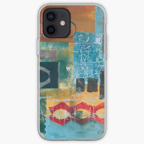 Primary Color Abstract Collage  iPhone Soft Case