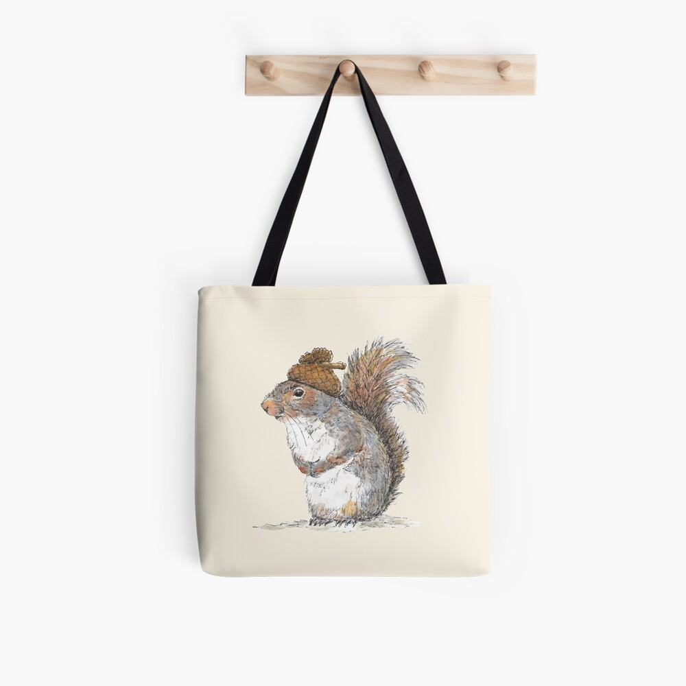 Squirrel with an Acorn Hat Tote Bag