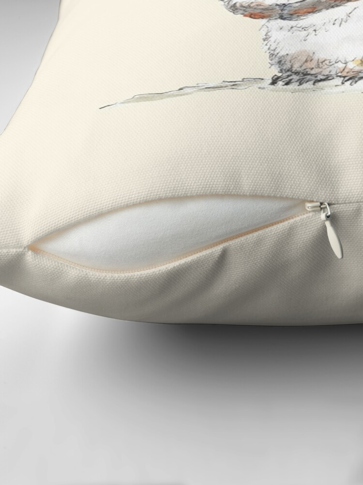 Alternate view of Squirrel with an Acorn Hat Throw Pillow