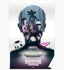 Stranger Things Silhouette Poster