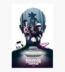 Stranger Things Silhouette Photographic Print