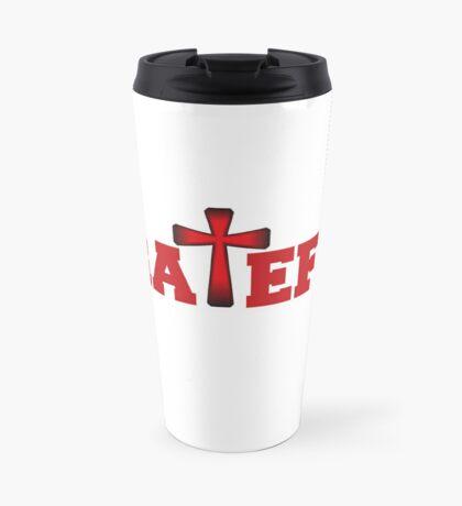 Grateful in Red Travel Mug