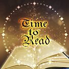 Time to Read - Magical Book Sparkle Clock by jitterfly
