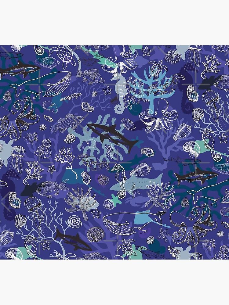 Ocean Colour Scene - blue - Nautical design by Cecca Designs by Cecca-Designs