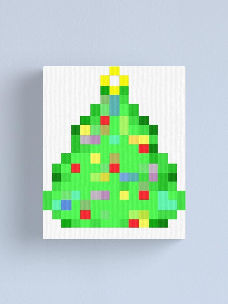 Impression Sur Toile Brillant Noel Arbre Retro 8 Bits Pixel Art Cadeau De Noel Par Madshirty Redbubble
