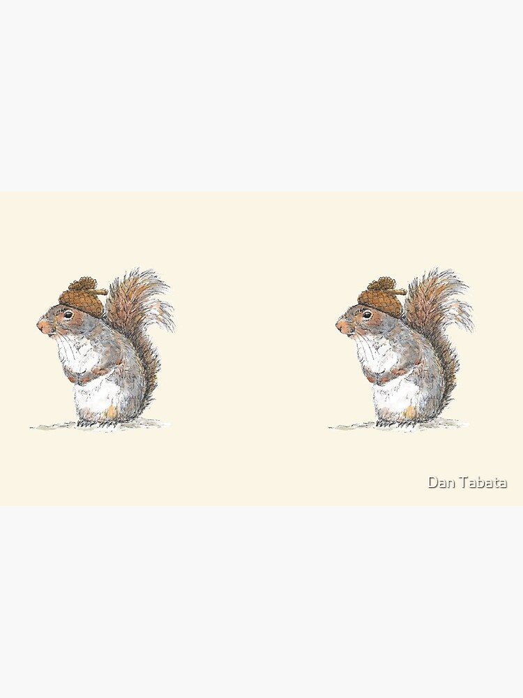 Squirrel with an Acorn Hat by dmtab