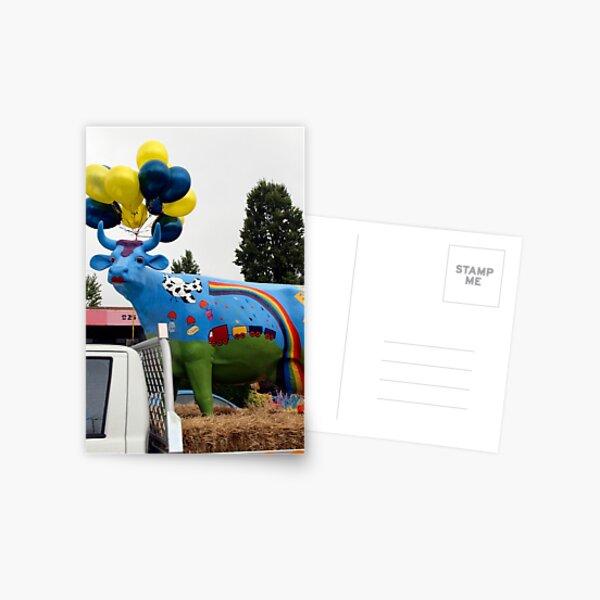 Ruby the Rainbow Cow Postcard