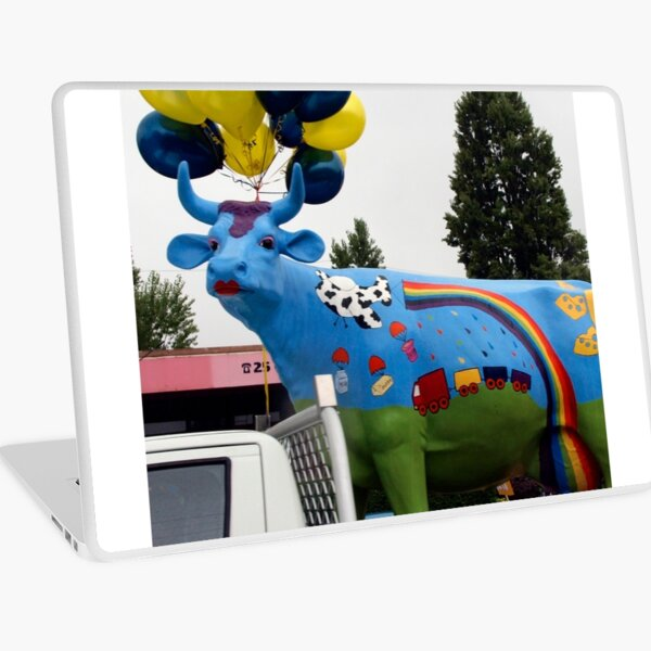 Ruby the Rainbow Cow Laptop Skin