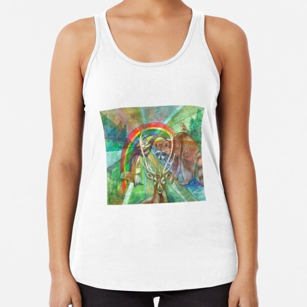 The Rainbow Cocoon Racerback Tank Top