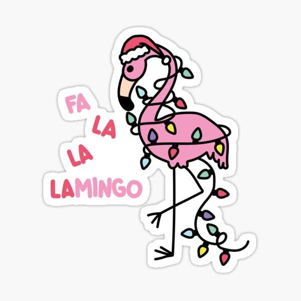 Christmas Flamingo Sticker