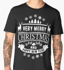 Merry Christmas And Happy New Year Men's Premium T-Shirt