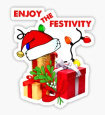 Christmas/ Enjoy the festivity   Sticker