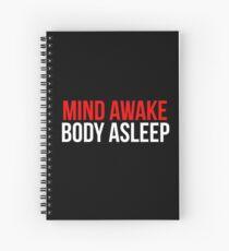 Cuaderno de espiral Mind Awake, Body Dormido // Mr Robot