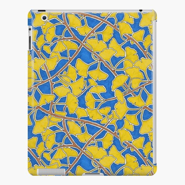 Yellow Ginkgo Leaves and Branches on Dark Blue iPad Snap Case