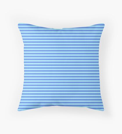 Dazzling Aqua Periwinkle Diamond Pattern Throw Pillow