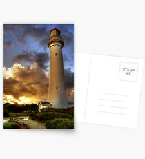 Glow on the Lighthouse, Airey's Inlet Postcards