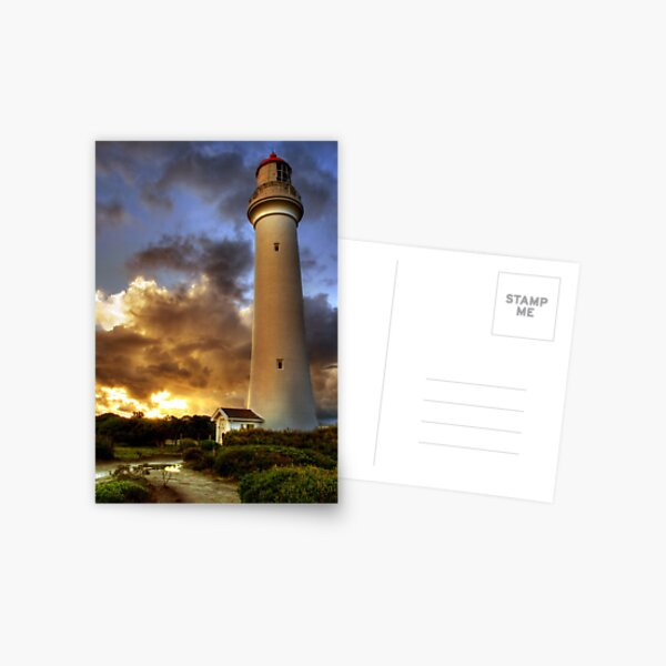 Glow on the Lighthouse, Airey's Inlet, Victoria Postcard