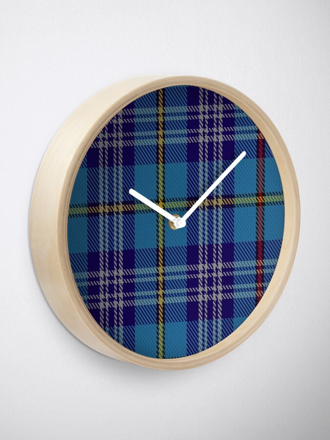 Alternate view of 00570 Citadel Military Academy Tartan  Clock
