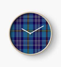 00570 Citadel Military Academy Tartan  Clock