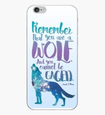 Remember that you are a wolf. And you cannot be caged. ― Sarah J. Maas, A Court of Wings and Ruin  iPhone Case