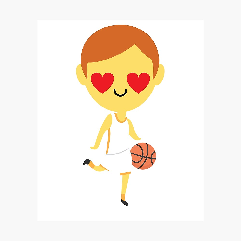 "Basketball Boy Emoji "" Poster by HippoEmo 