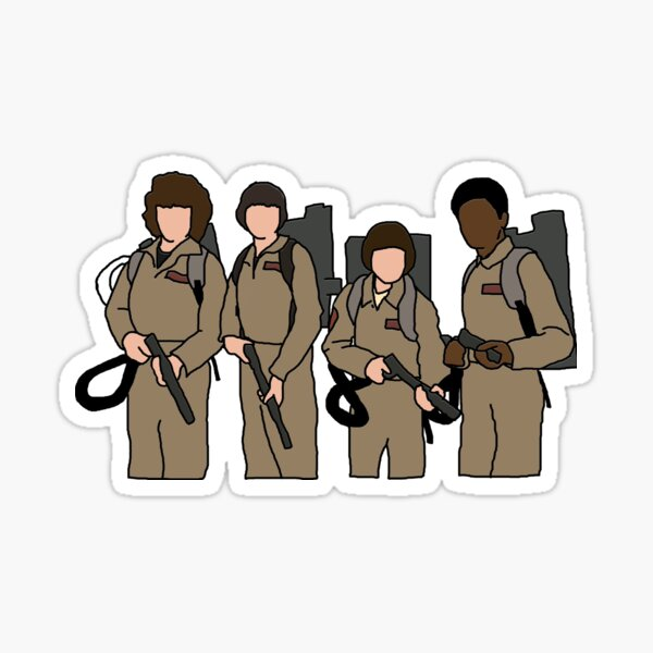 stranger things ghostbusters Sticker