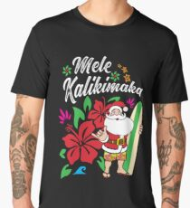 'Mele Kalikimaka' Cute Christmas Hawaiian  Men's Premium T-Shirt