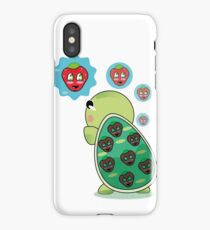 cute turtles with the strawberry | redbubble iPhone Case/Skin