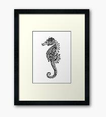 Seahorse Doodle Framed Print