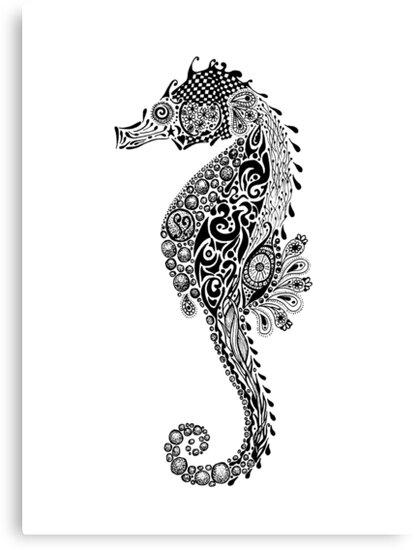 Seahorse Doodle by Jacqueline Eden