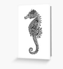 Seahorse Doodle Greeting Card