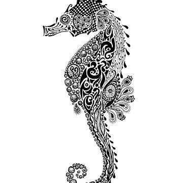 Seahorse Doodle by JakkiOakes