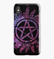 Supernatural Anti-Possession Galaxy Print iPhone Case