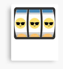 Slot Machine Emoji   Canvas Print