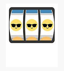 Slot Machine Emoji   Photographic Print