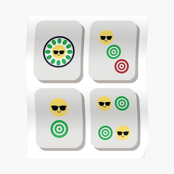 Mahjong Emoji   Poster