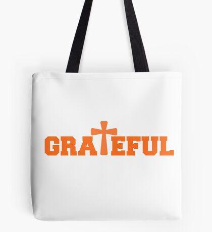 Grateful - Orange Tote Bag
