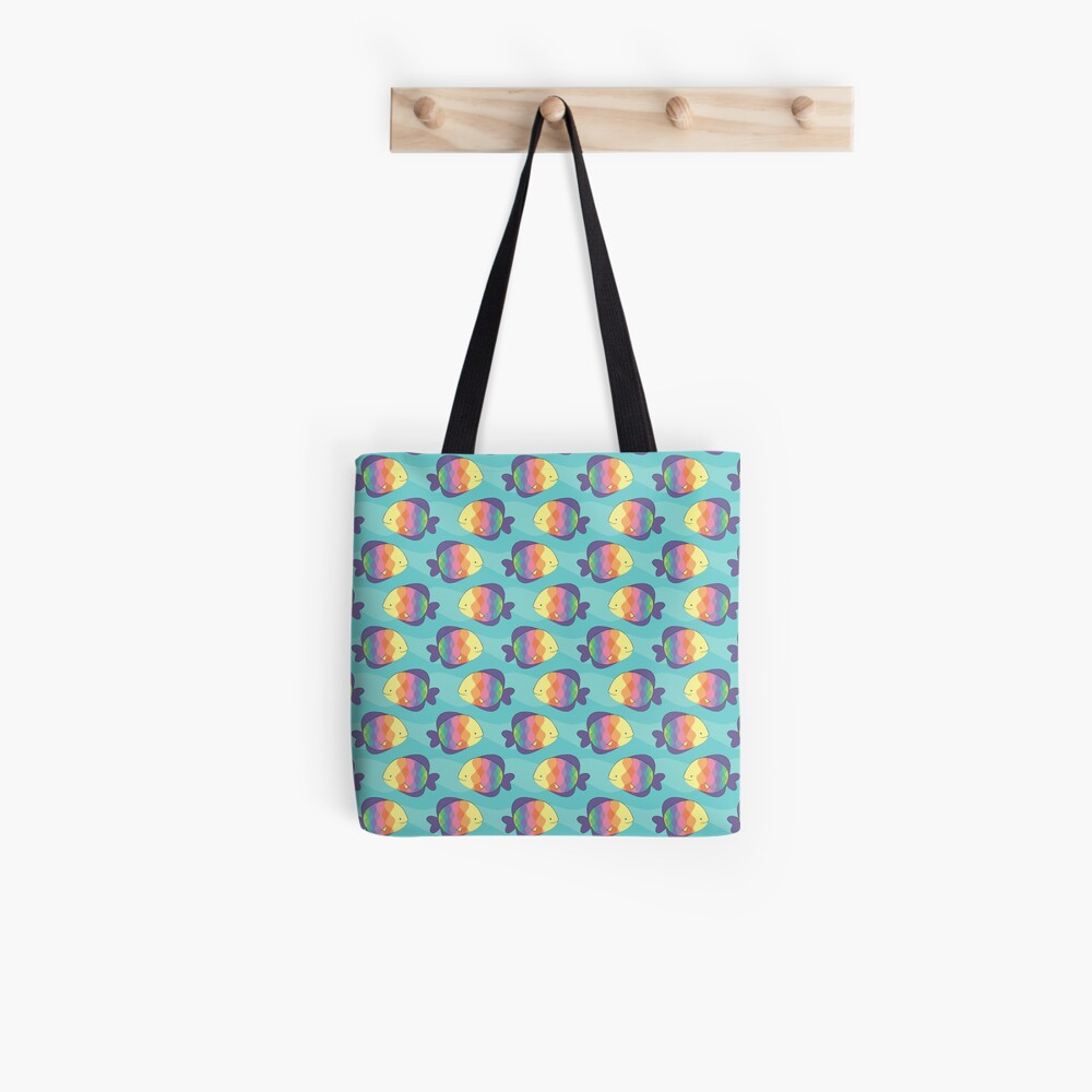 Rainbow fishes Tote Bag