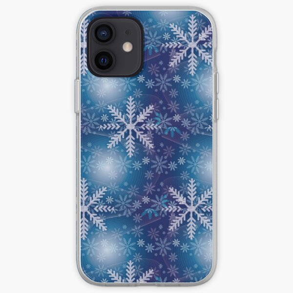 Whimsical Geometric Winter Snowflakes iPhone Soft Case