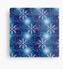 Whimsical Geometric Winter Snowflakes Metal Print