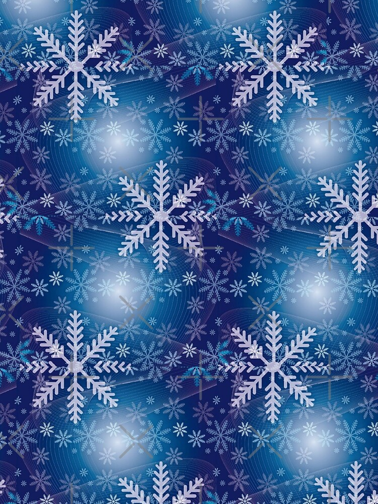 Whimsical Geometric Winter Snowflakes by ambers-designs