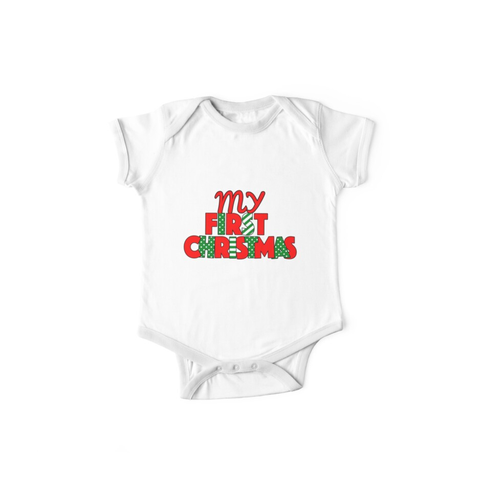 368364a6c My First Christmas Baby Onesie