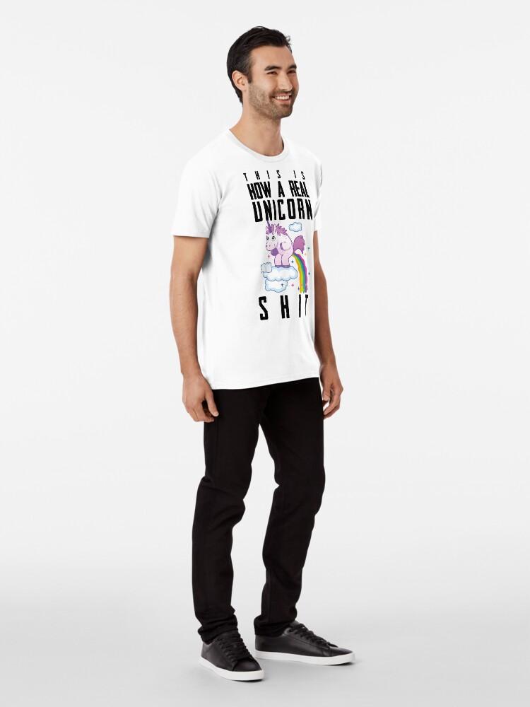 Alternative Ansicht von Einhorn Regenbogen Scheiße Premium T-Shirt
