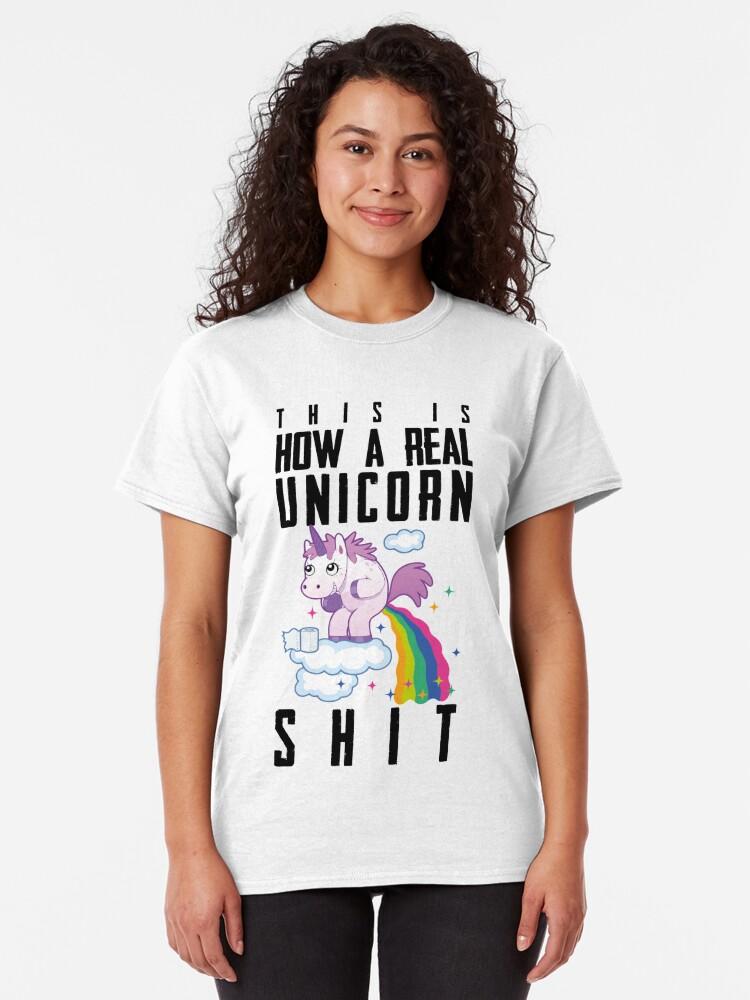 Alternative Ansicht von Einhorn Regenbogen Scheiße Classic T-Shirt