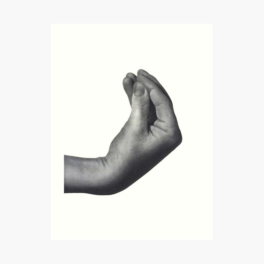 Italian hand Art Print